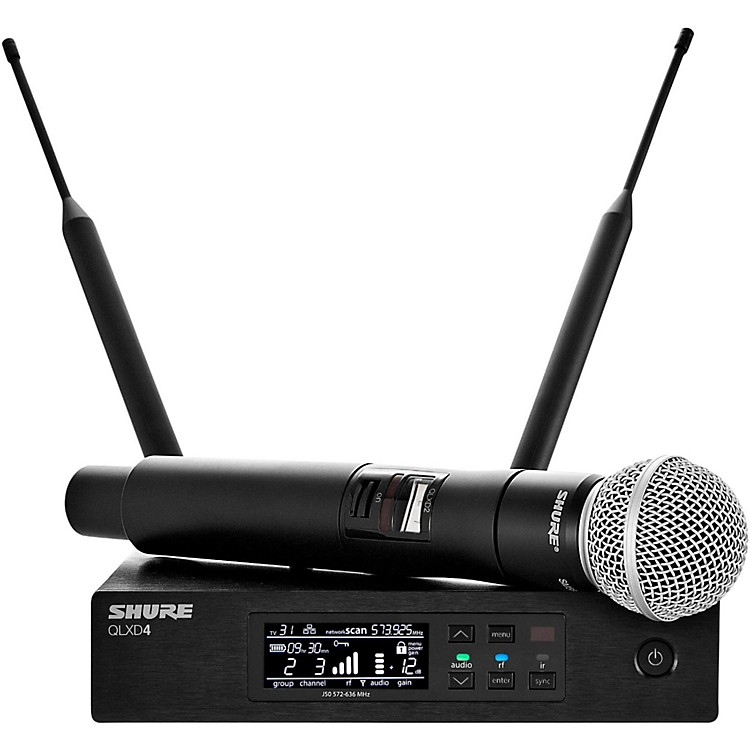 Shure QLX-D Digital Wireless System with SM58 Dynamic Microphone Band G50