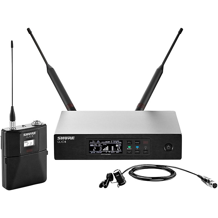 Shure QLX-D Digital Wireless System with WL185 Cardioid Lavalier Band L50