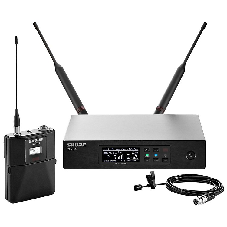 Shure QLX-D Digital Wireless System with WL93 Omnidirectional Lavalier Band X52