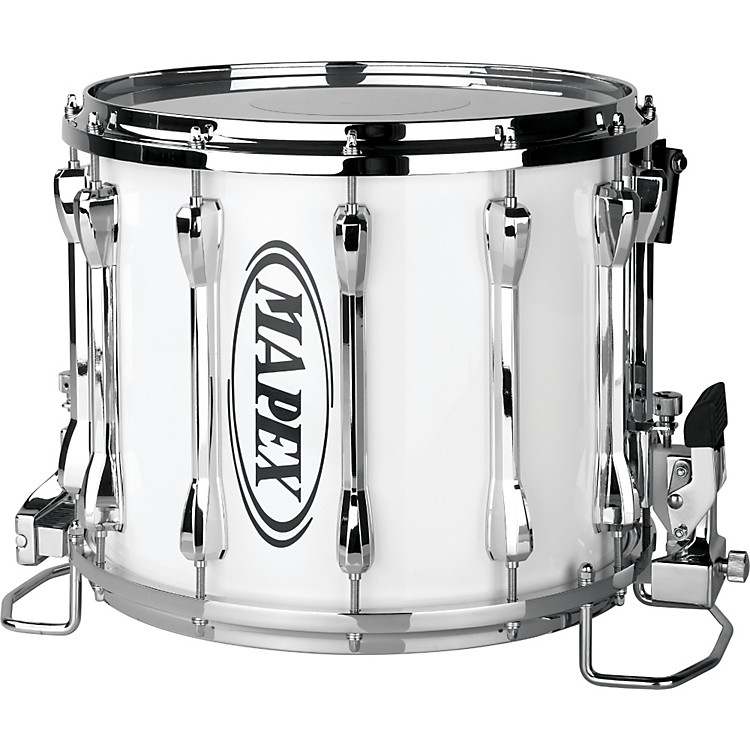 mapex qualifier deluxe snare 14 x 12 snow white 14 x 12 inch music123. Black Bedroom Furniture Sets. Home Design Ideas