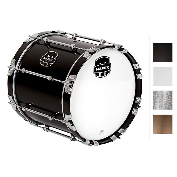 MapexQuantum Bass Drum16 x 14 in.Silver Diamond/Gloss Chrome