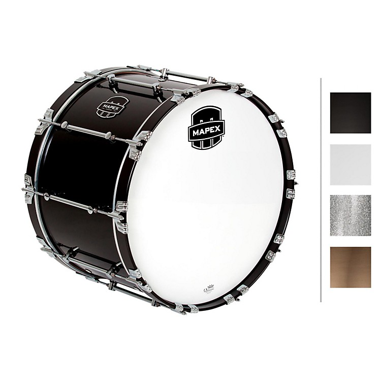 MapexQuantum Bass Drum22 x 14 in.Gloss Black/Gloss Chrome Hardware