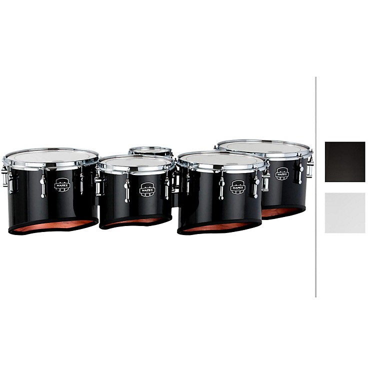 Mapex Quantum Lg. Quint Marching Multi-Tom Gloss White 6,10,12,13,14