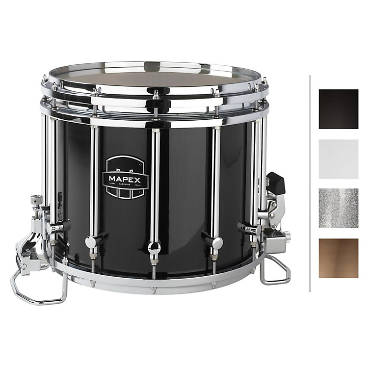 Mapex Quantum XT Snare Drum 14 x 12 in. Gloss Black/Gloss Chrome Hardware
