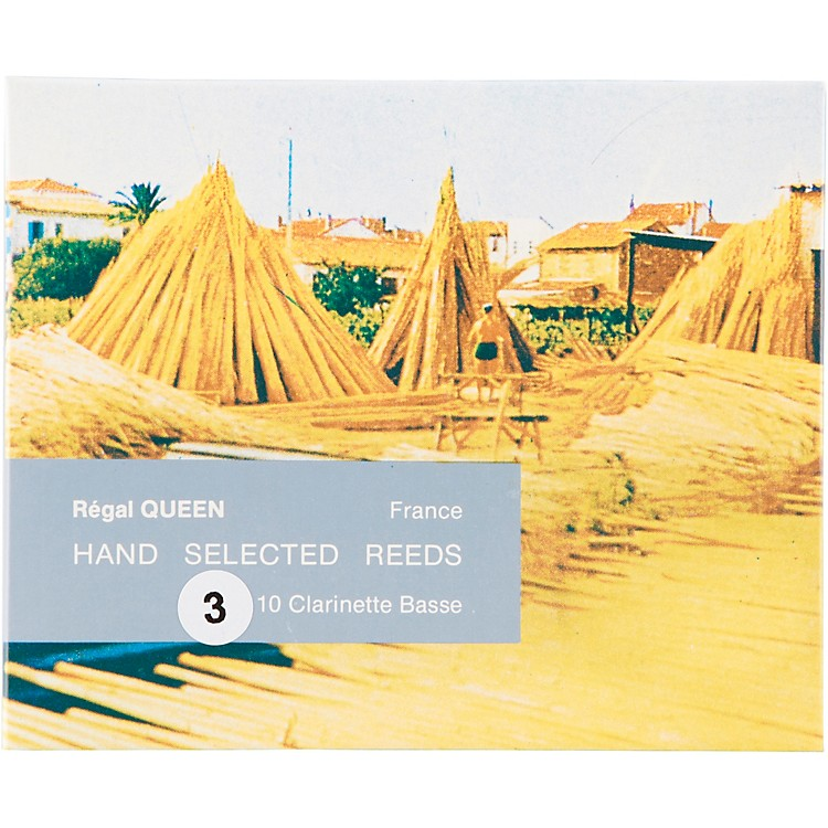 Rigotti Queen Reeds for Bass Clarinet Strength 3 Box of 10