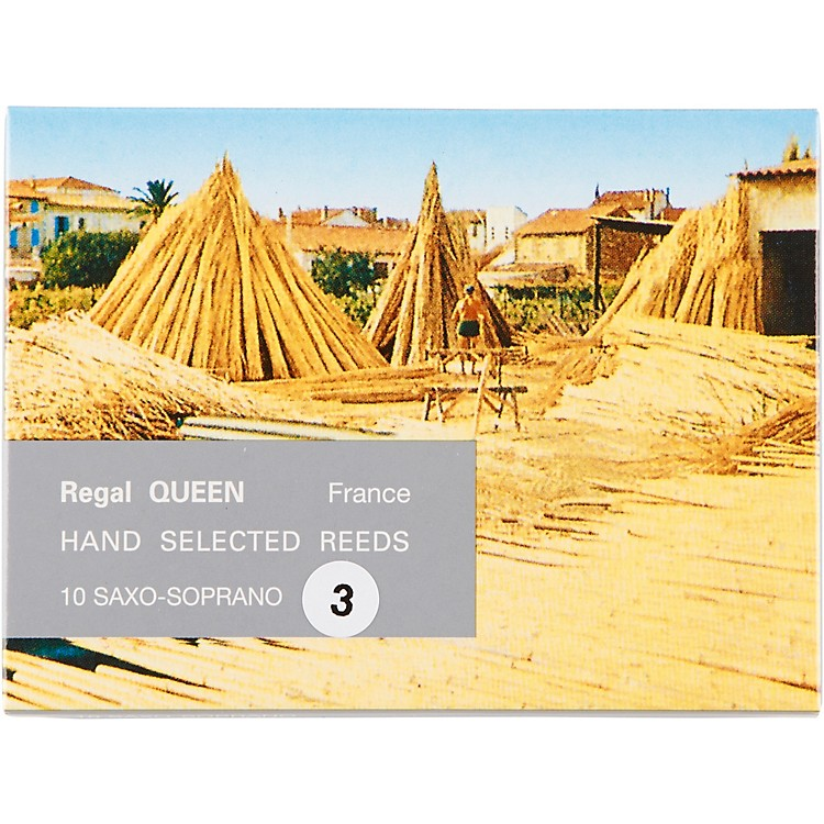 Rigotti Queen Reeds for Soprano Saxophone Strength 3 Box of 10