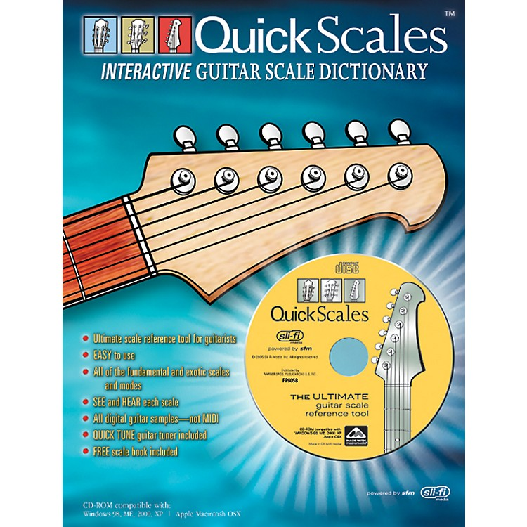 AlfredQuick Scales Interactive Guitar Scale Dictionary Book with CD-ROM