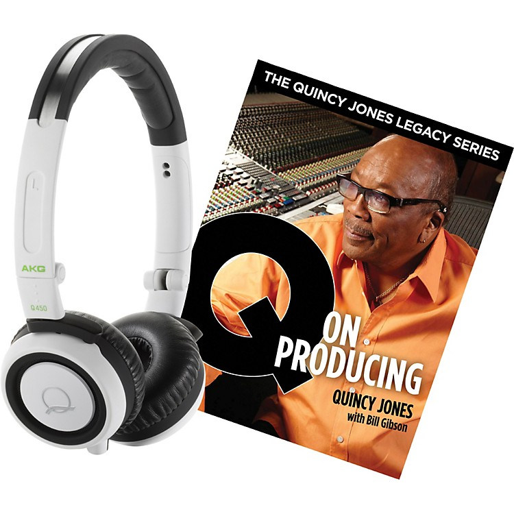 AKG Quincy Jones Q460 Headphones with Q on Producing Book