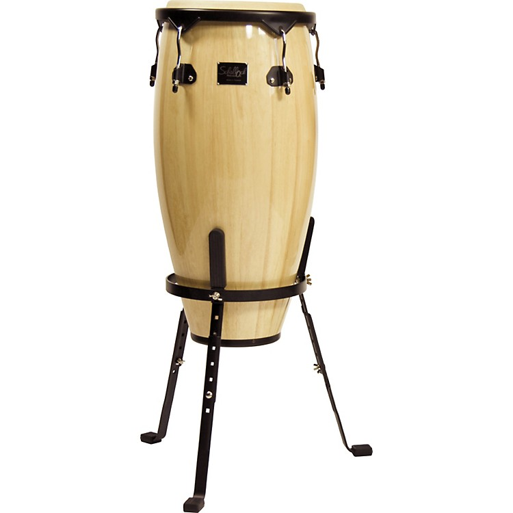 Schalloch Quinto Conga Drum with Stand Black Hardware Old Natural 11 inch