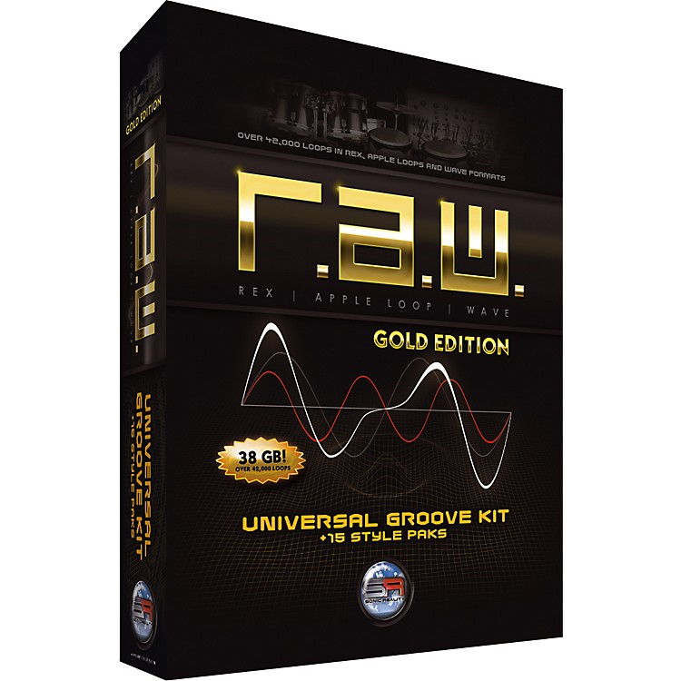 Sonic Reality R.A.W. Gold Edition Universal Groove Kit + 15 Style Paks
