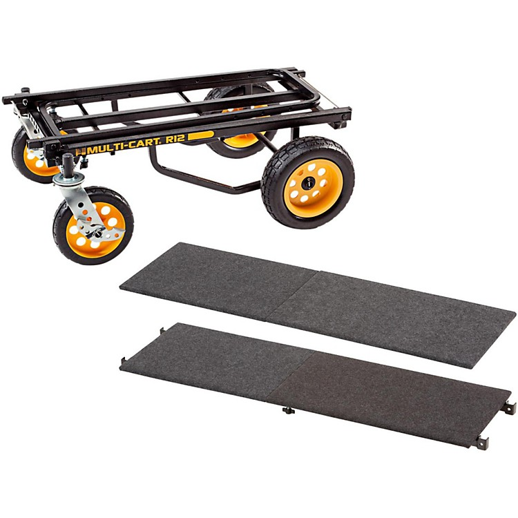 Rock N RollerR12 Multi-Cart 8-in-1 Equipment Transporter Cart With Deck and Shelf