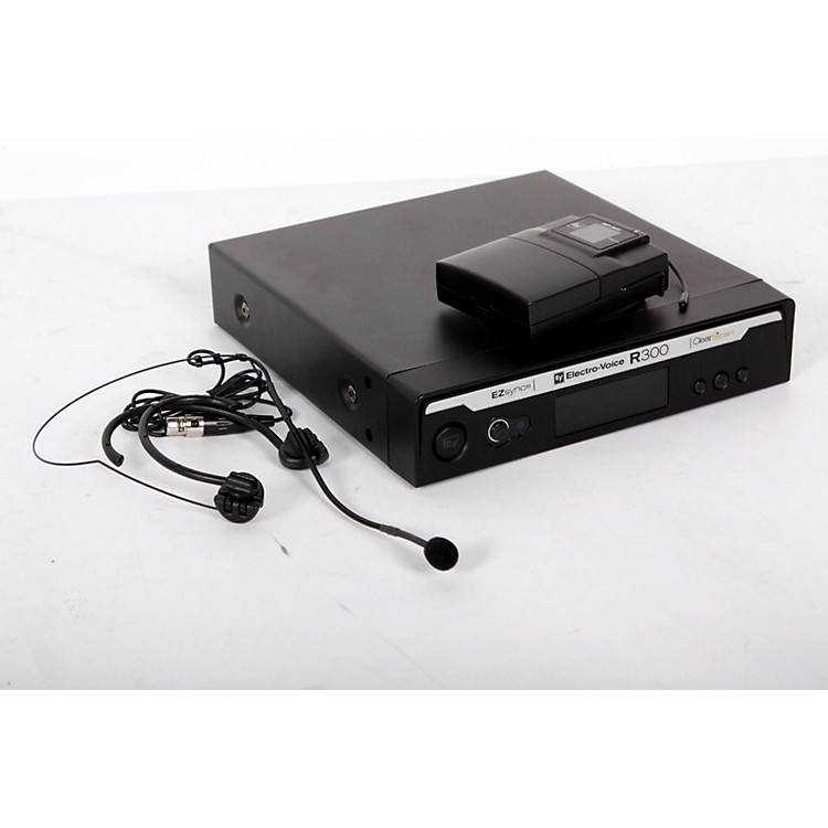 Electro-Voice R300 Headworn Wireless System in Case Band A 888365808598