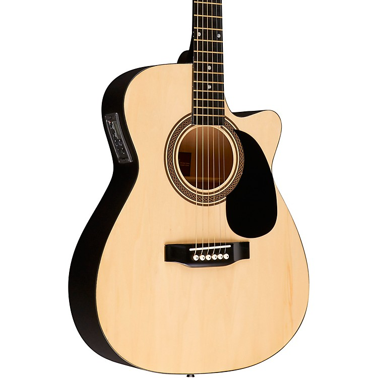 Rogue RA-090 Concert Cutaway Acoustic-Electric Guitar Natural