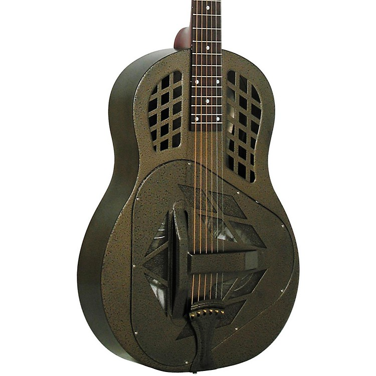 Regal RC-58 Tricone Metal Body Resonator Guitar Texas Tea Round Neck