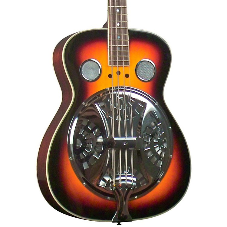 Regal RD-05 Resonator Bass Guitar Sunburst finish