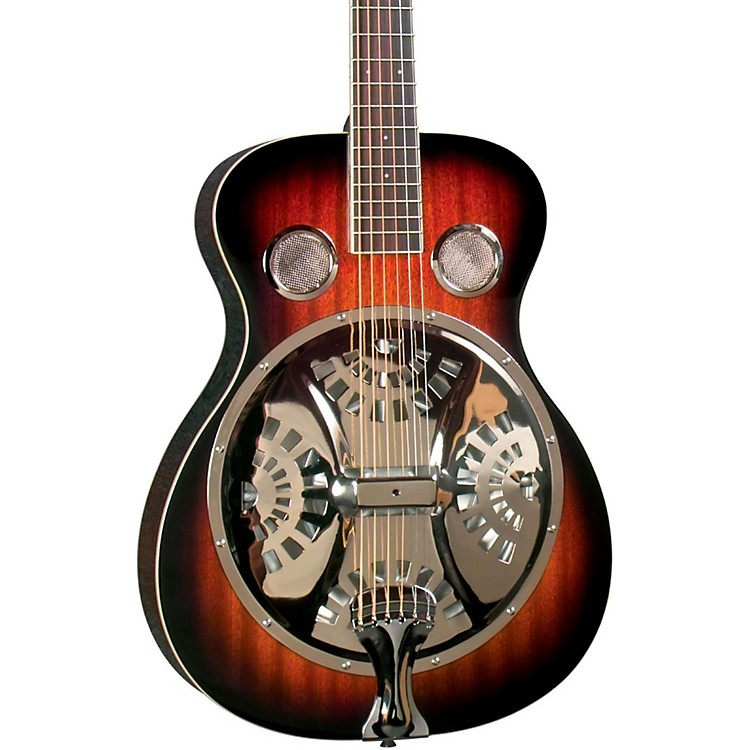 Regal RD-30V Round Neck Resonator Guitar Vintage Sunburst