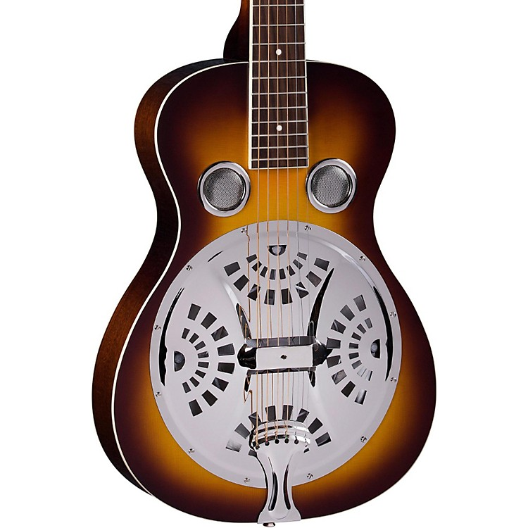 Regal RD-40 Resonator Natural Mahogany Square Neck