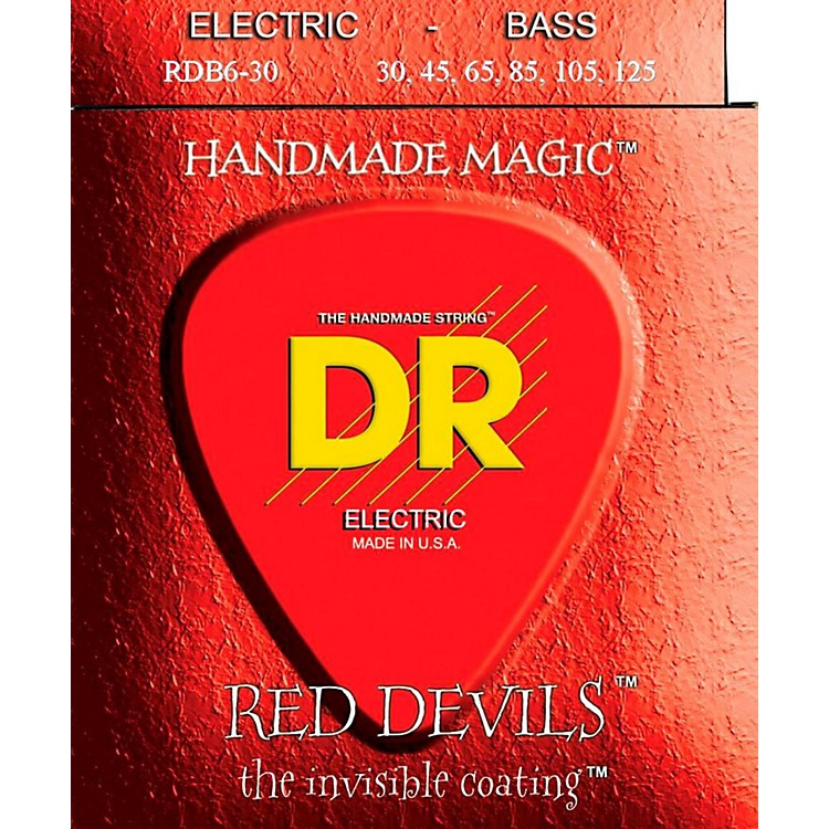 DR Strings RED DEVILS COATED 6 STRING BASS MEDIUM .125 (30-125)