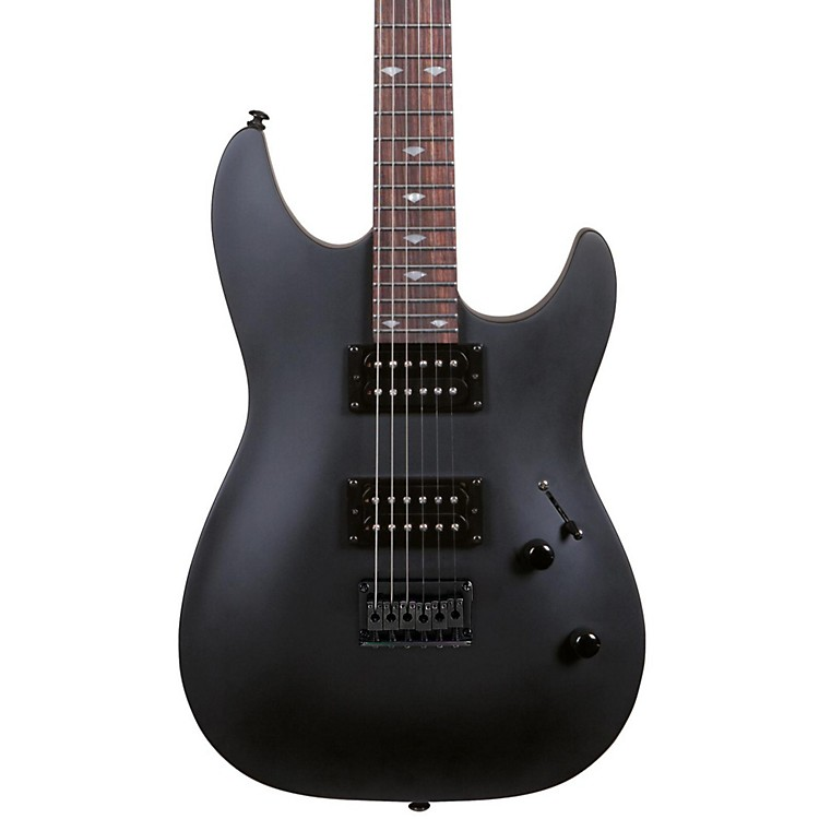 Rogue REL200 Stop-Tail Electric Guitar Black Satin