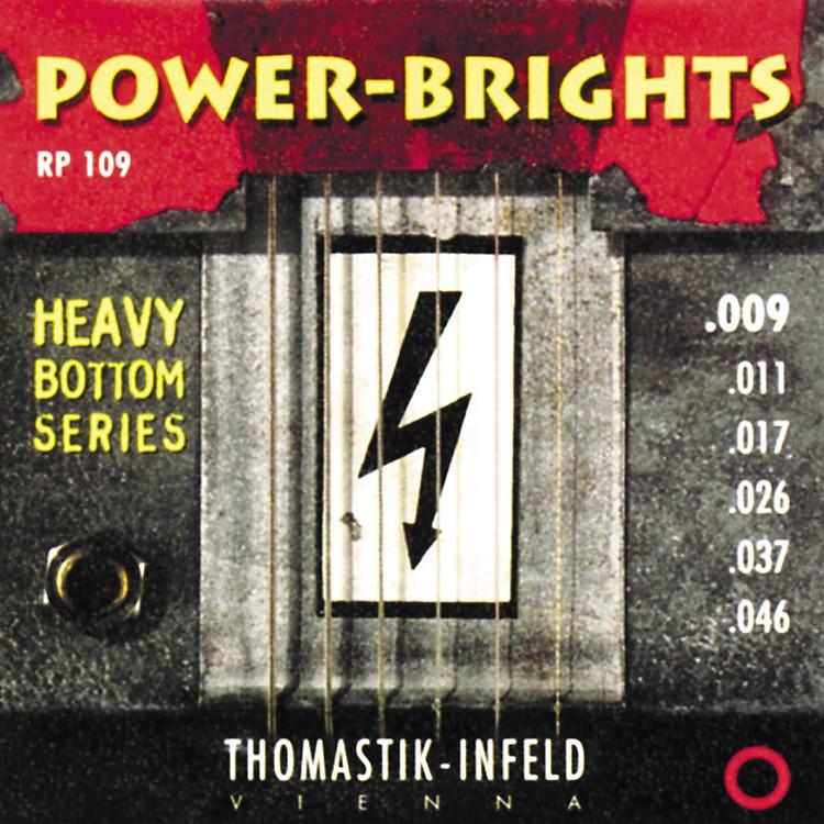 ThomastikRP109 Power-Brights Heavy Bottom Light Top Electric Guitar Strings
