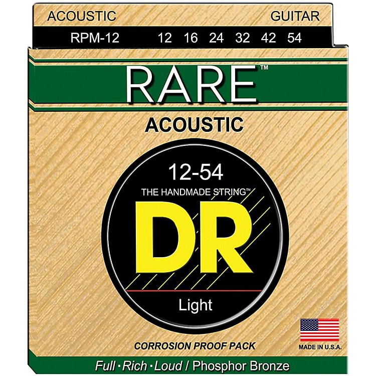 DR StringsRPM-12 RARE Phosphor Bronze Acoustic Guitar Strings