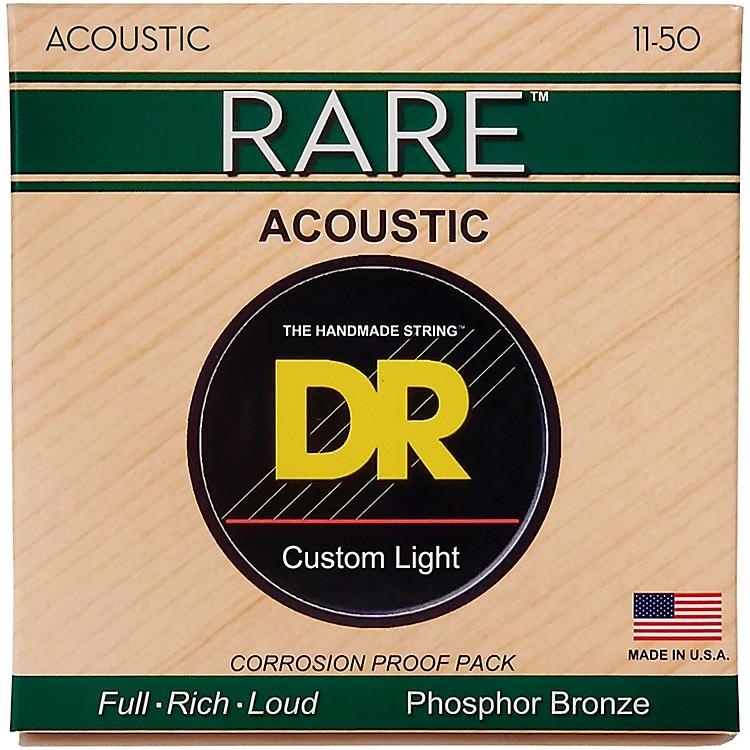 DR StringsRPML-11 Custom Light RARE Phosphor Bronze Acoustic Strings