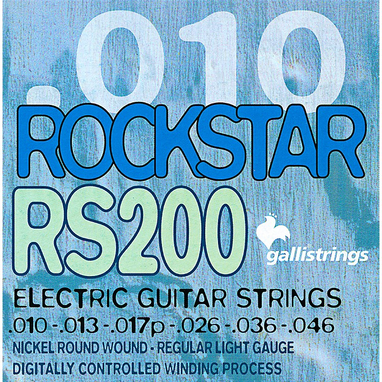 Galli Strings RS200 ROCKSTAR Regular Light Electric Guitar Strings 10-46