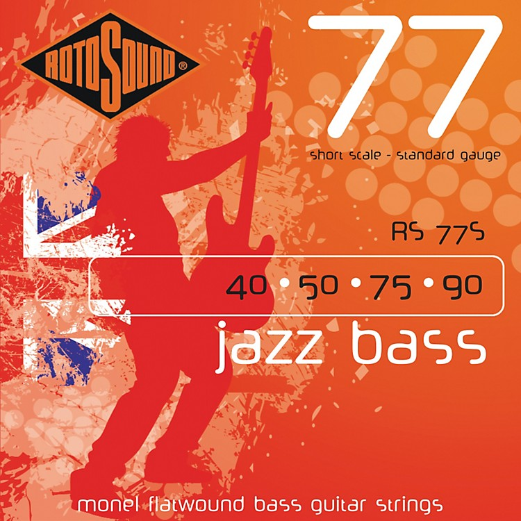 RotosoundRS77S Short Scale Jazz Bass Monel Flat Wound Strings