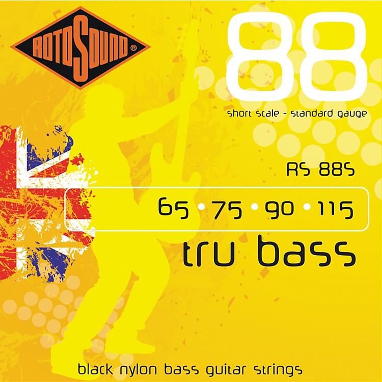 RotosoundRS88S Trubass Black Nylon Flatwound Standard Gauge Short Scale Bass Strings