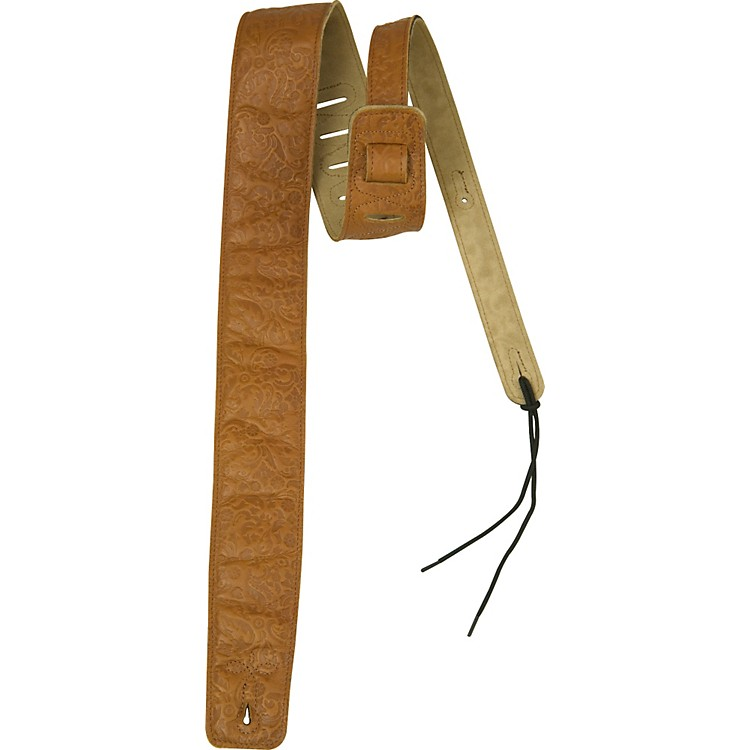 Rock Steady RSLE01 Embossed Leather Guitar Strap