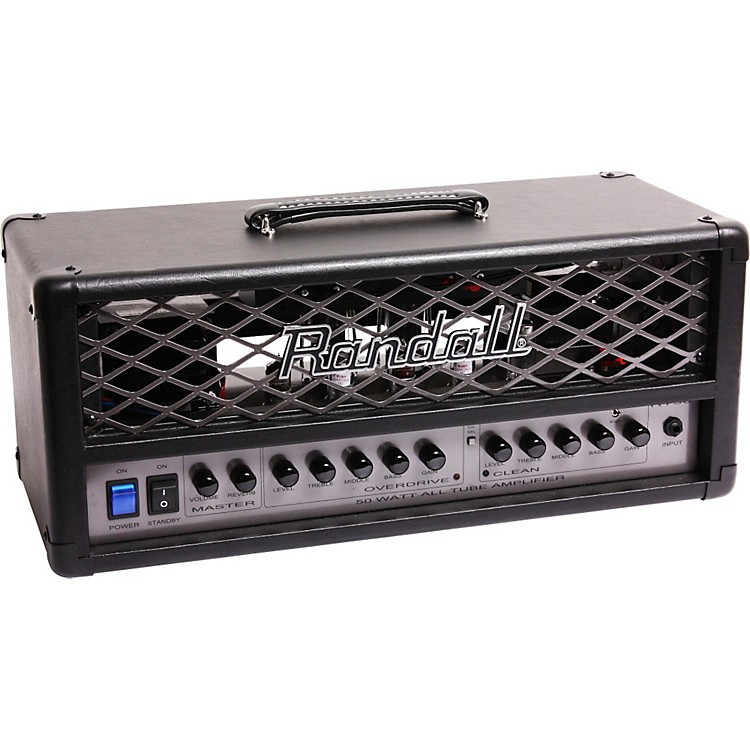 Randall RT Series RT50H 50W Tube Guitar Amp Head Black