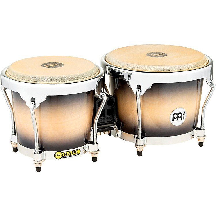 Meinl Radial 5-Ply Wood Construction Bongos Black Maple Burst 6.75 & 8 Inch