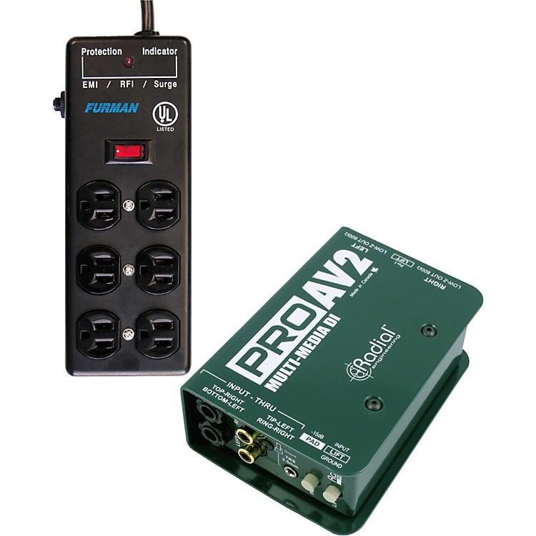 Radial EngineeringRadial-Furman PROAV2 DI Box SS-6B Surge Block Bundle