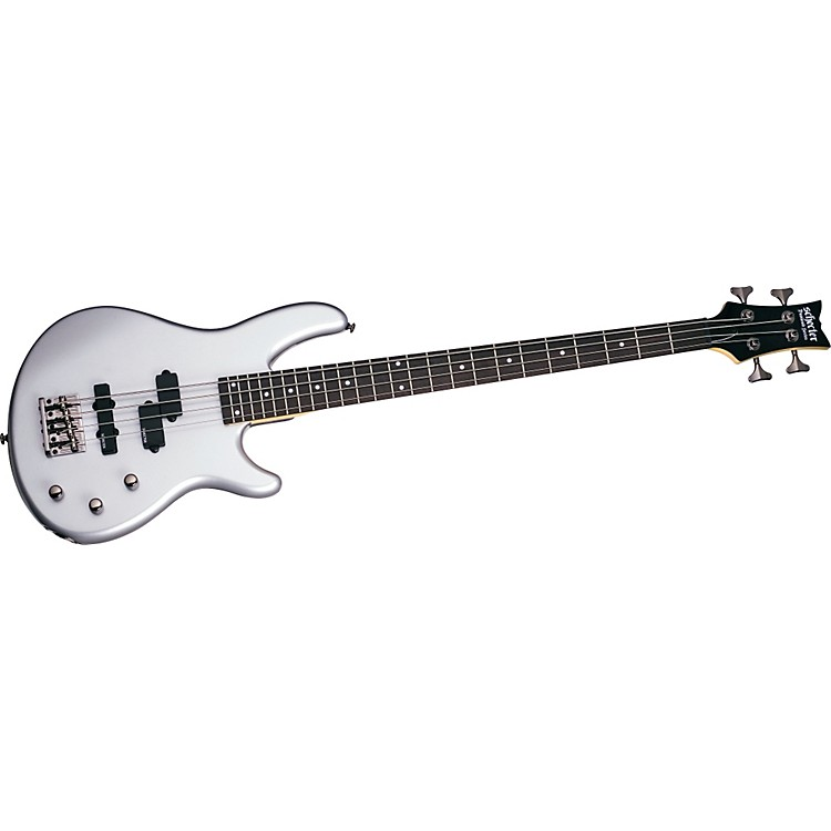 Schecter Guitar Research Raiden Deluxe 4 Electric Bass Guitar Metallic Silver