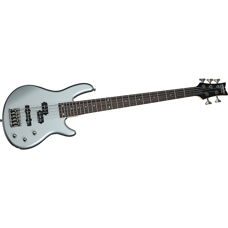 Schecter Guitar Research Raiden Deluxe-5 5-String Electric Bass Guitar Metallic Silver