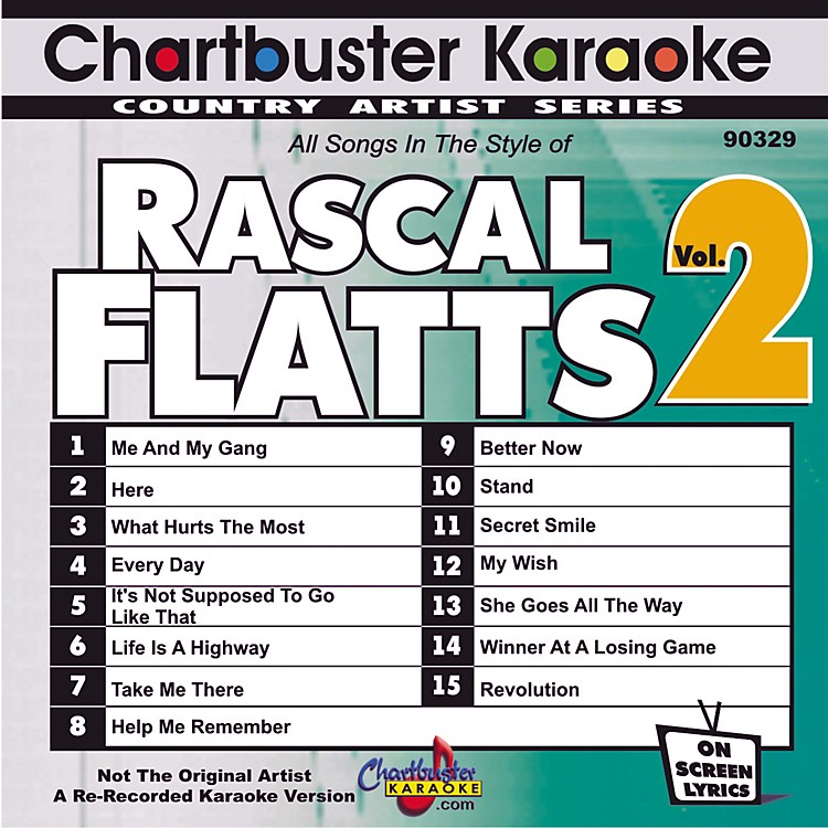 Chartbuster KaraokeRascal Flatts Volume 2
