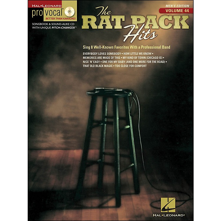 Hal Leonard Rat Pack Hits Pro Vocal Songbook & CD for Male Singers Volume 44