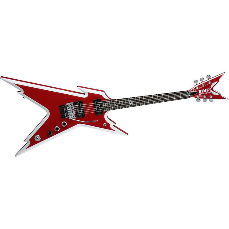 Dean Razorback Red and White Electric Guitar
