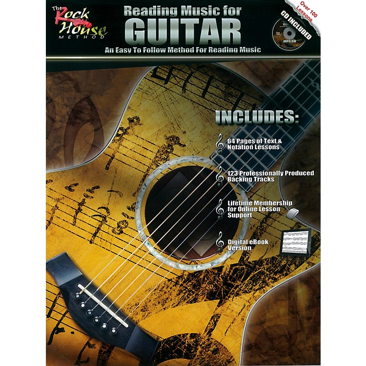 Rock HouseReading Music For Guitar - An Easy to Follow Method for Reading Music (Book/CD)