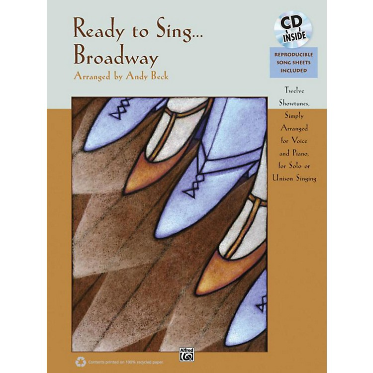 AlfredReady to Sing . . . Broadway Book & CD