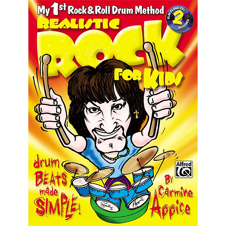 AlfredRealistic Rock for Kids (My 1st Rock & Roll Drum Method) Book & 2 CDs