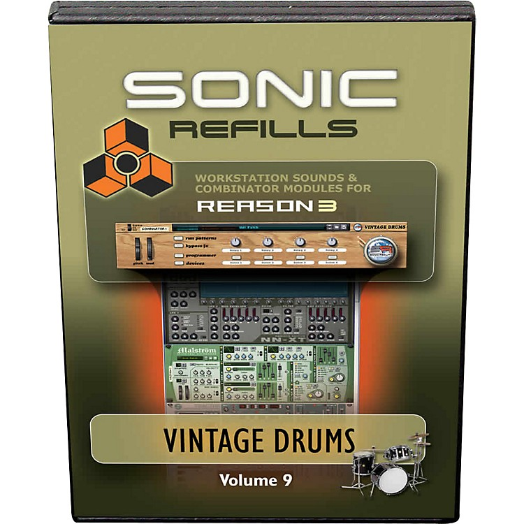 Sonic Reality Reason 3 Refills Vol. 09: Vintage Drums