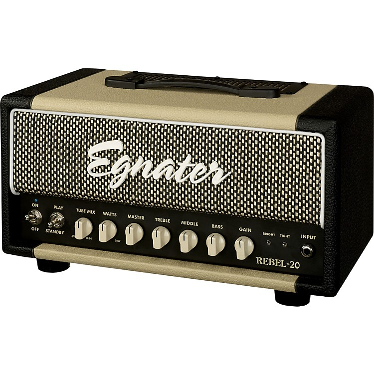 Egnater Rebel 20 20W Tube Guitar Amp Head Black and Beige
