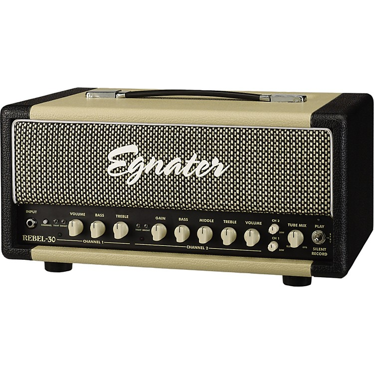 Egnater Rebel-30 30W Tube Guitar Amp Head Black, Beige