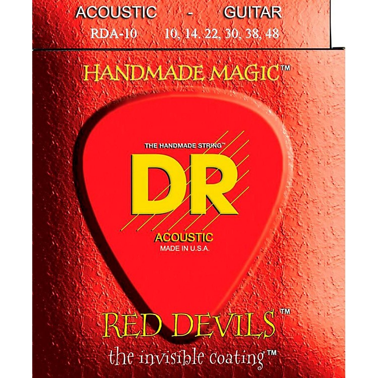 DR Strings Red Devils Extra Lite Acoustic Guitar Strings