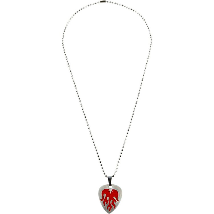 ClaytonRed Flame Guitar Pick Necklace