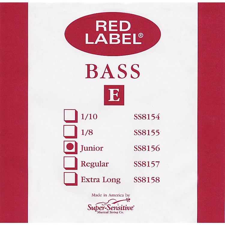 Super Sensitive Red Label 1/4 Size Double Bass Strings 1/4 D String