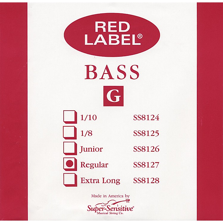 Super SensitiveRed Label 3/4 Size Double Bass Strings3/4G String