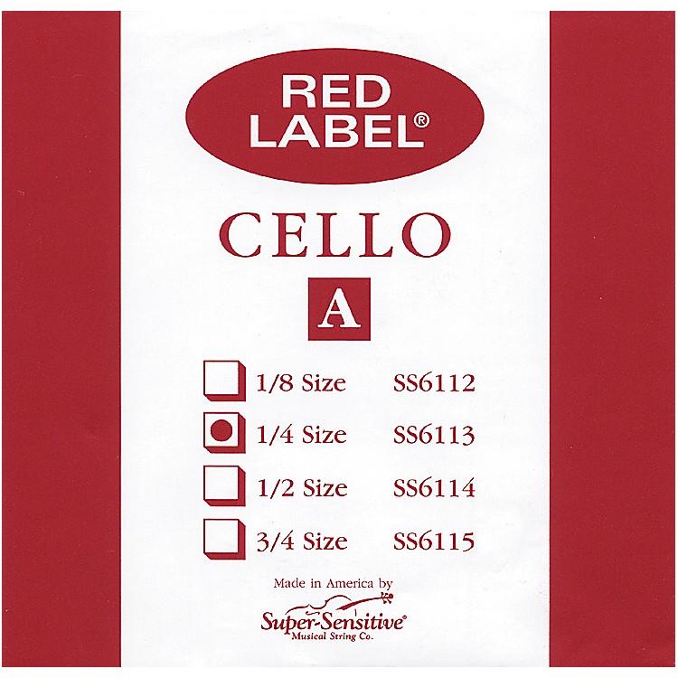 Super SensitiveRed Label Cello A String1/4