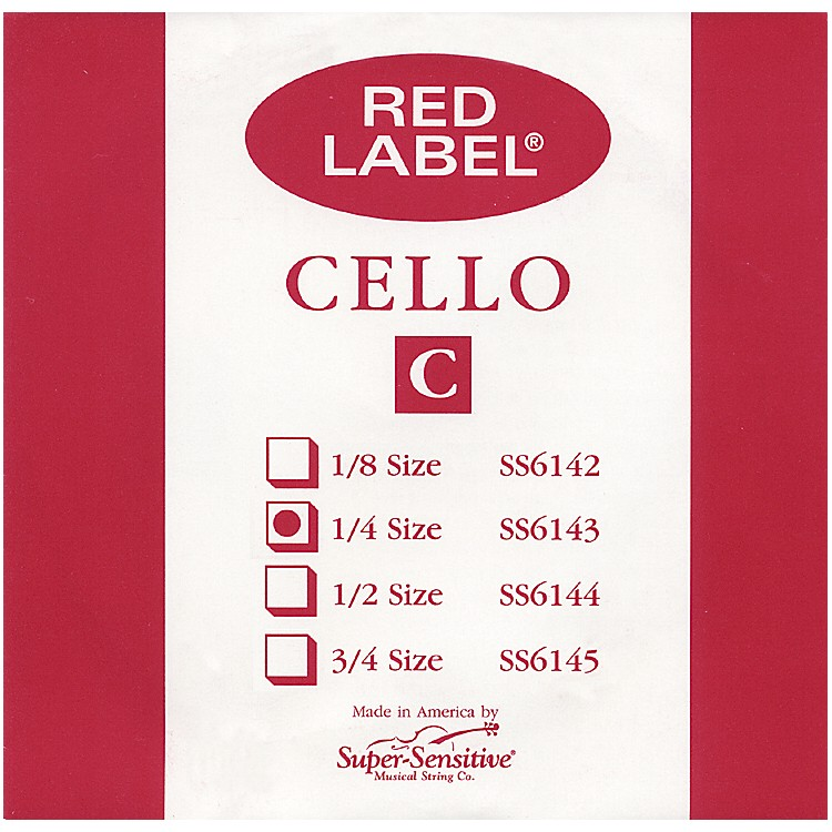 Super Sensitive Red Label Cello C String  1/4